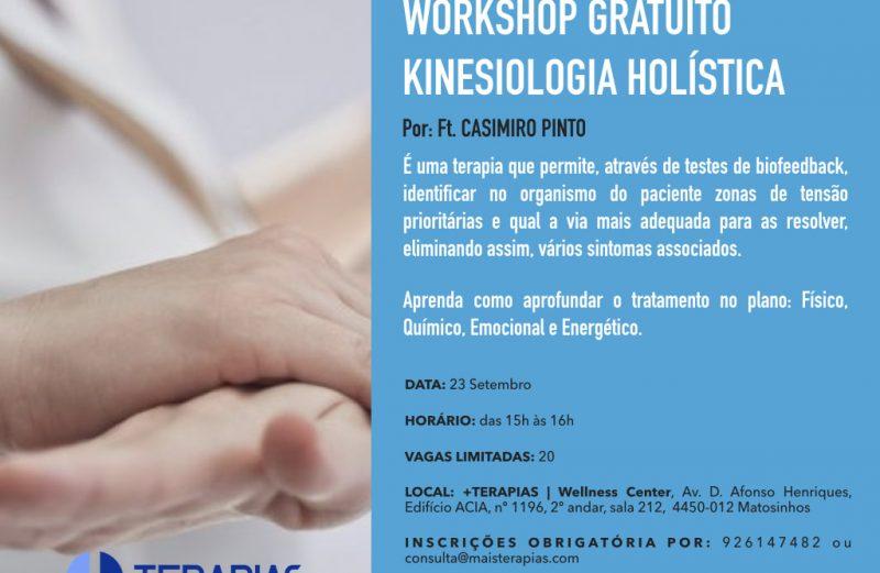 WORKSHOP GRATUITO KINESIOLOGIA HOLÍSTICA