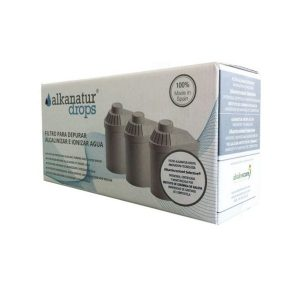 Pack 3 filtros alcalinos Alkanatur mais terapias