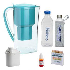 Kit jarra agua filtrada alkanatur drops